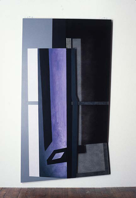 PIERRE LOUAVER  WORK 1991-1997 oil paint on polyester, canvas and plexiglass