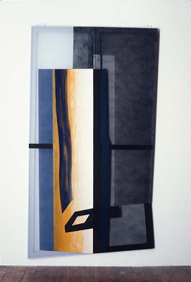 PIERRE LOUAVER  WORK 1991-1997 oil paint on fabric, polyester and plexiglass