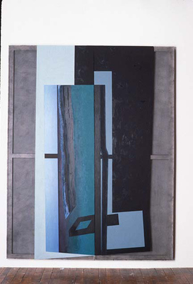 PIERRE LOUAVER  WORK 1991-1997 oil paint on polyester