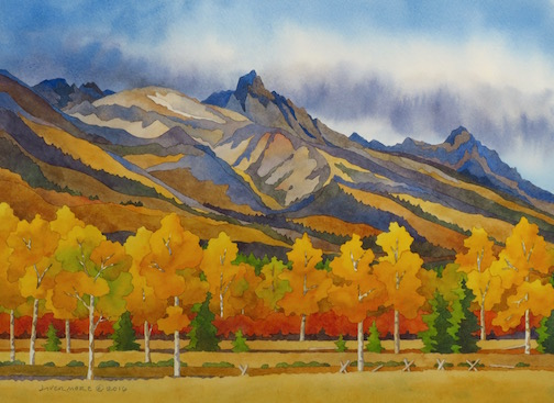 Rebecca Livermore / Paintings Wyoming & Tetons watercolor on paper