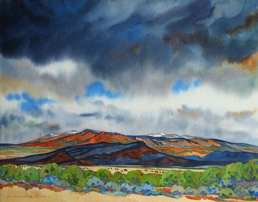 Rebecca Livermore / Paintings Big Skies watercolor on paper