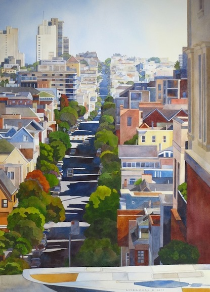 Rebecca Livermore / Paintings San Francisco watercolor on paper