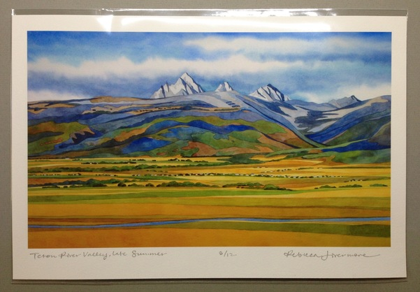 Rebecca Livermore / Paintings Teton River Valley Signed & Numbered Limited Edition Archival Print