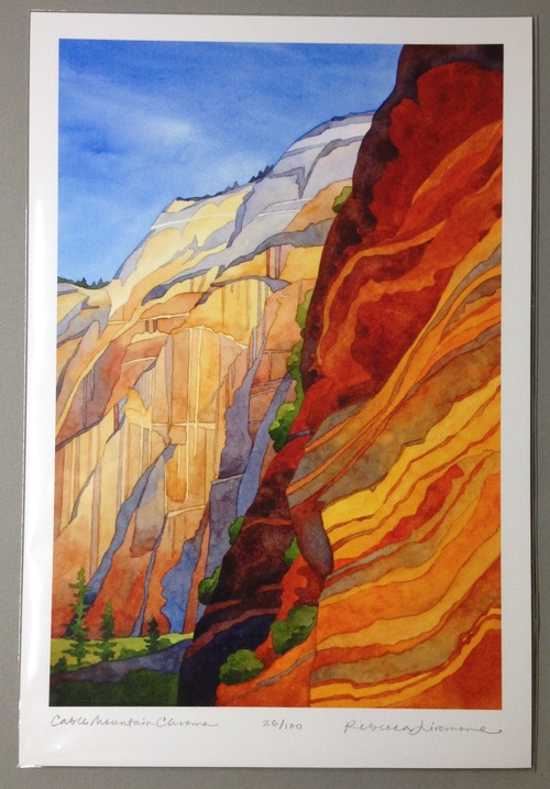 Rebecca Livermore / Paintings Cable Mountain Chroma Signed & Numbered Limited Edition Archival Print
