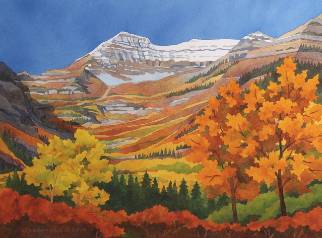 Rebecca Livermore / Paintings UTAH – NORTHERN watercolor on paper