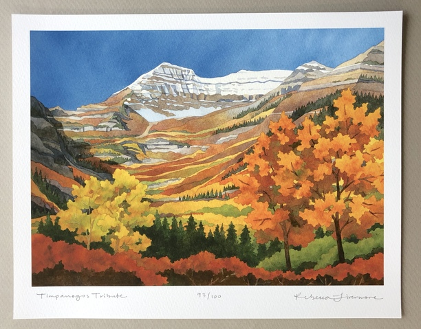 Rebecca Livermore / Paintings Timpanogos Tribute Signed & Numbered Limited Edition Archival Print