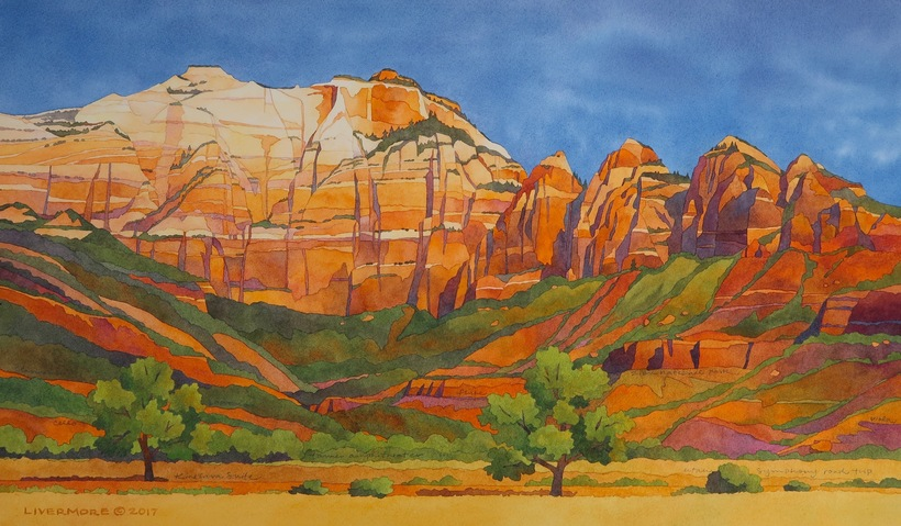Rebecca Livermore / Paintings Zion National Park watercolor on paper