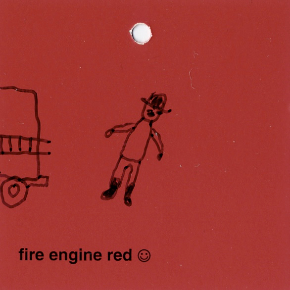 objects & altered fire engine red