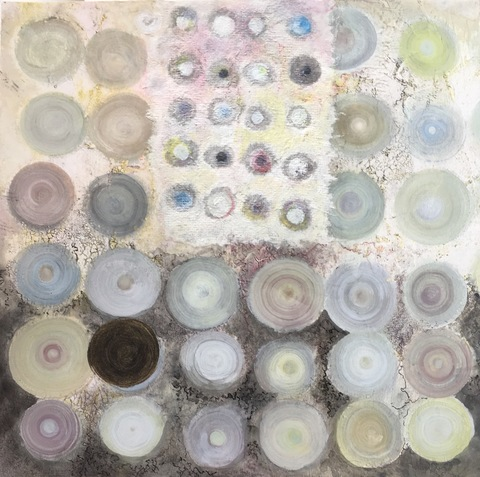 ROBERTA PYX SUTHERLAND Out of Stillness Mixed media papers on canvas