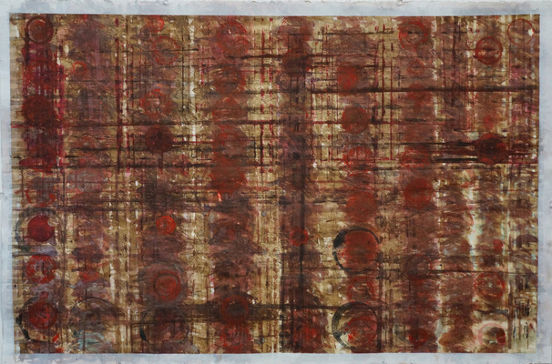 ROBERT SOLOMON broken patterns ink, pigment, gesso, stain on paper