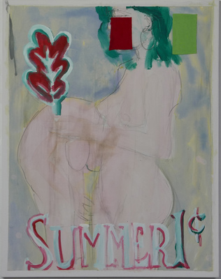 ROBERT SOLOMON small works acrylic, collage on canvas