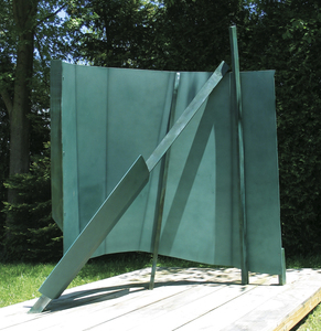 ROBERT GRAY MURRAY SCULPTURE Painted aluminum