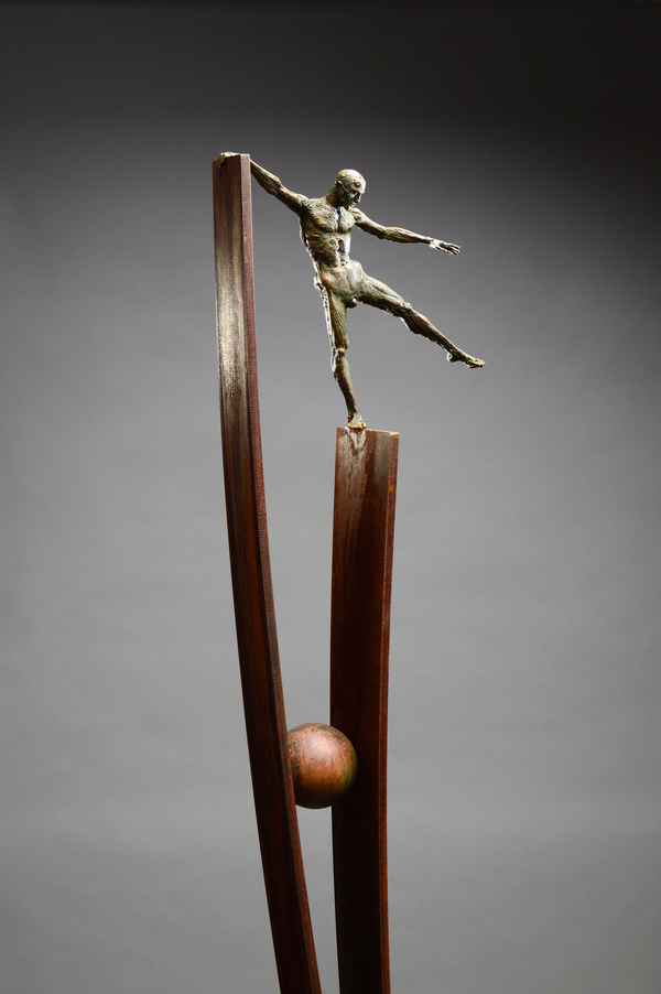 DAVID ROBINSON Shadows of Doubt Bronze, weathering steel