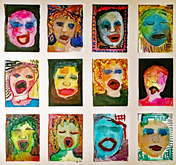 ROSEMARY TAYLOR Pandemic Portraits  watercolor, gouache, and acrylic on paper
