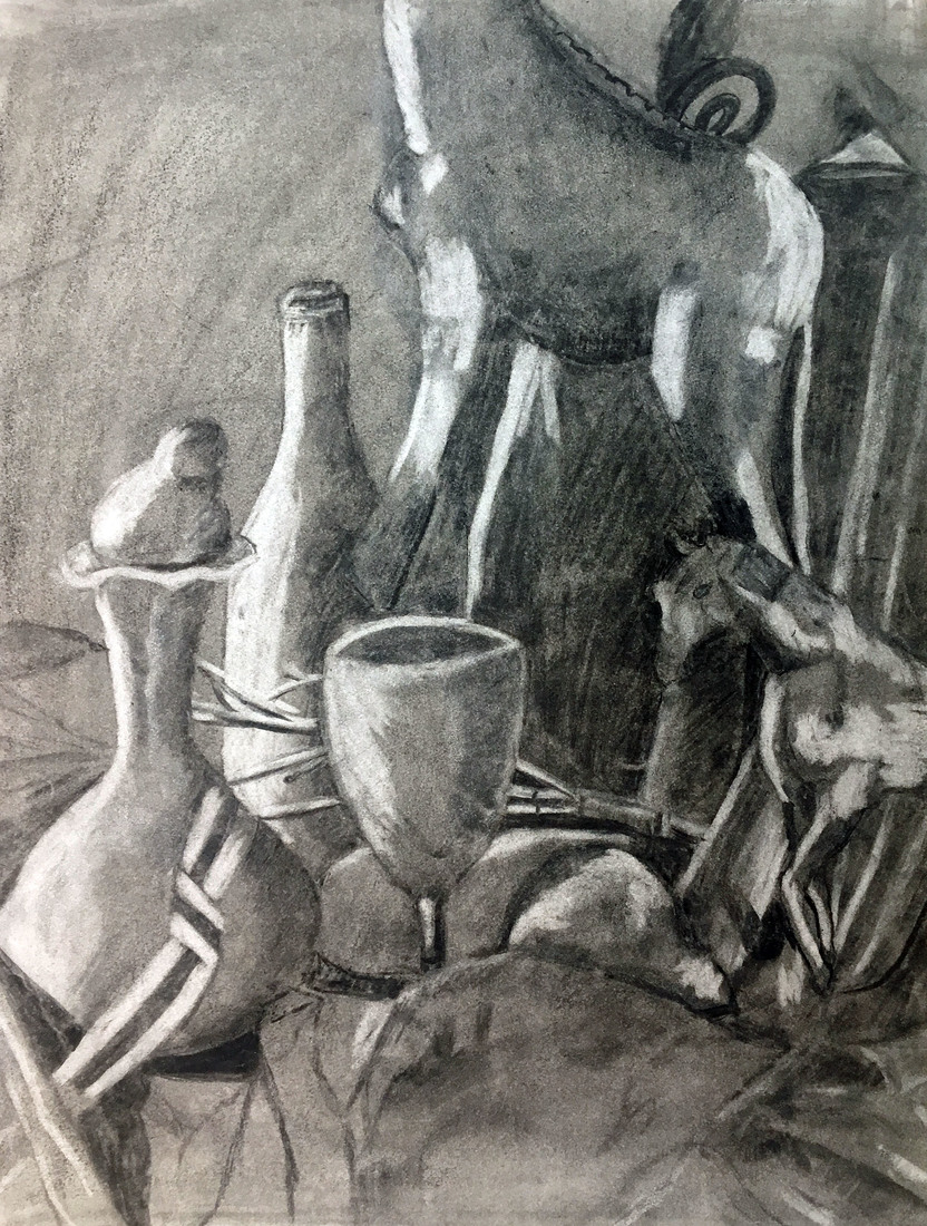ROSEMARY TAYLOR  Services Still-life of Found Objects - Beginning Drawing
