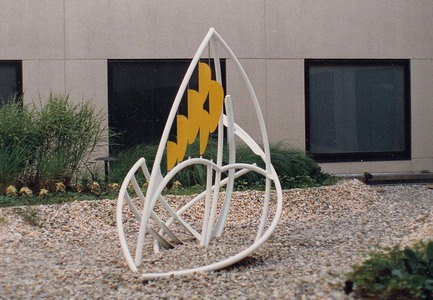 Roy Wilson Public Art aluminum, 6 dual color wind vanes
