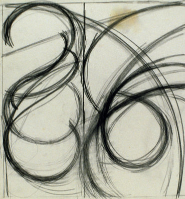 Arcs & Bands Charcoal on Paper