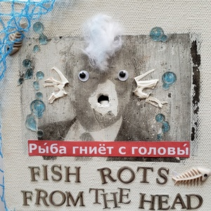 RUTH SHARTON Russian Proverbs Mixed Media on Canvas