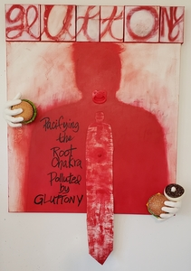 RUTH SHARTON Seven Deadly Sins Mixed media on canvas