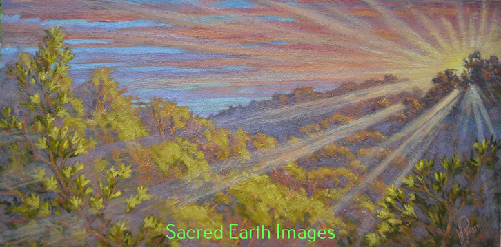 Friar Vincent Petersen Sacred Earth Collection Gallery 1 Acrylic & Sand on Canvas