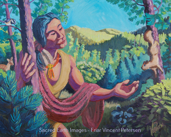 Friar Vincent Petersen Sacred Earth Icons - Gallery 2 Oil on Canvas