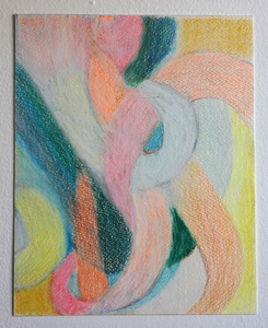 Samantha Palmeri Sublimation series, 2020 Pastel and colored pencil on 300lb. cold pressed paper