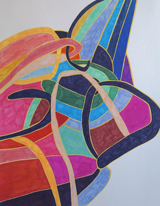 Samantha Palmeri Quarantine Drawings, 2020 prismacolor art markers on paper
