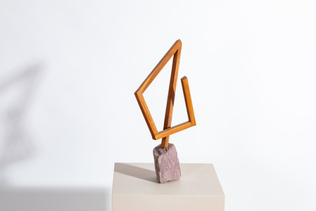 Seth Callander Recent sculpture oiled cherry and stone