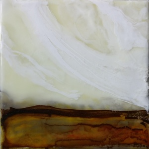 Sharon Blomquist The Art Gallery Encaustic w/mixed media including rust
