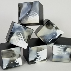 Sharon Blomquist The Petit Fours Gallery Encaustic on solid wood micro cube