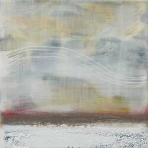 Sharon Blomquist The Art Gallery Encaustic w/mixed media and silver leaf