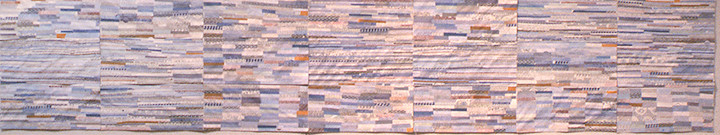 Shona Macdonald Envelope Innards recycled envelopes, PVA, archival MSA varnish,acrylic on paper