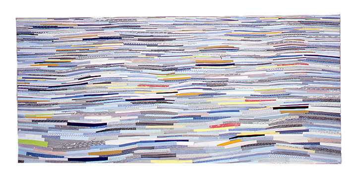 Shona Macdonald Envelope Innards recycled envelopes, PVA, archival MSA varnish on canvas