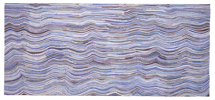 Shona Macdonald Envelope Innards recycled envelopes, PVA, archival MSA varnish on linen