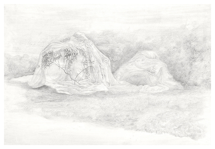 Shona Macdonald Ghosts silverpoint an graphite on absorbent ground on paper