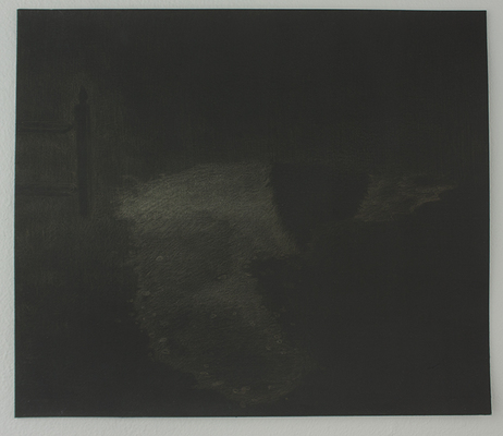 Shona Macdonald Sky on Ground Drawings silverpoint on black gesso on paper