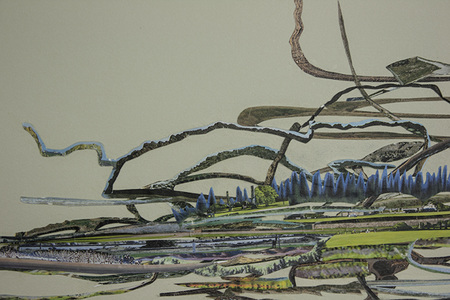 Shona Macdonald Landscape Edges collage and archival PVA on toned paper