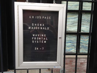 Shona Macdonald Brooklyn, NY, 2014 envelopes and archival PVA on paper in window
