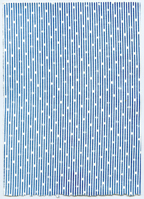Untitled (Stripes on Dots)