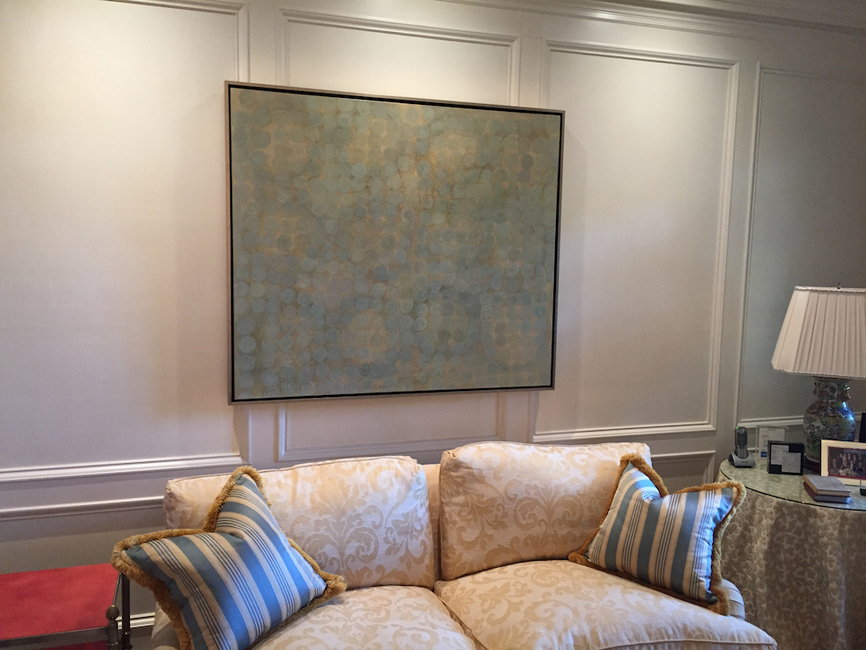Paintings in situ Private collection