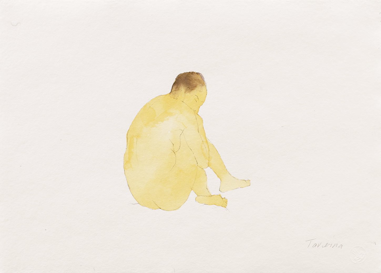 watercolors Yellow Nude