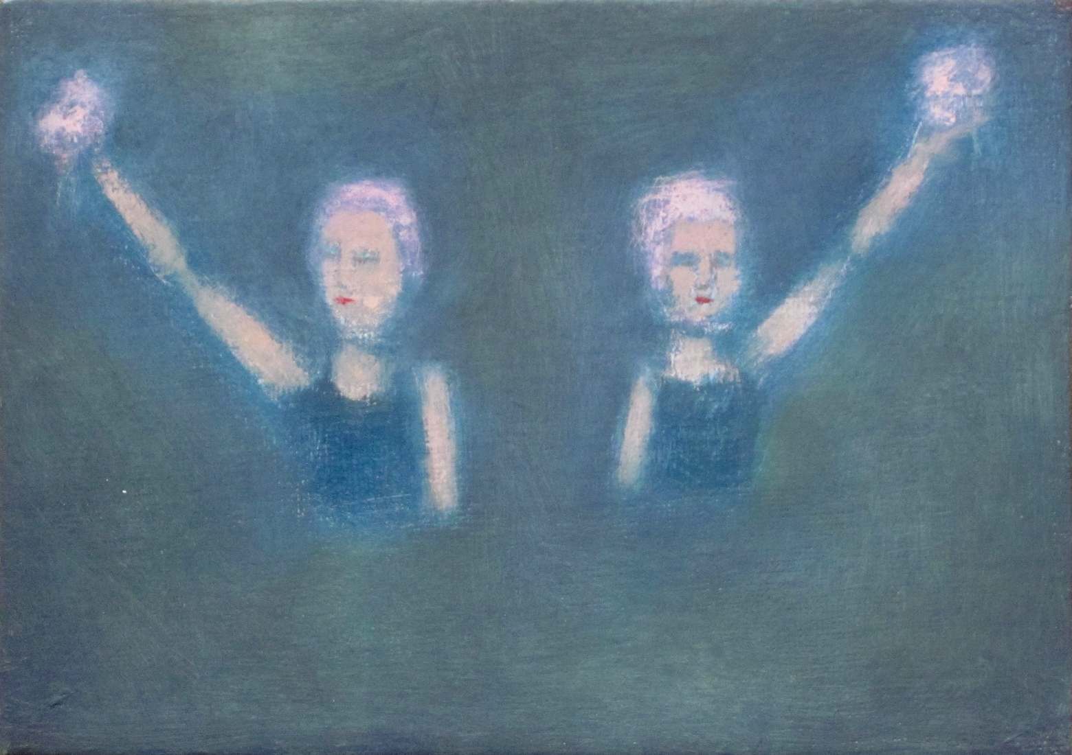 recent paintings No. 7 (Synchronized Swimmers)