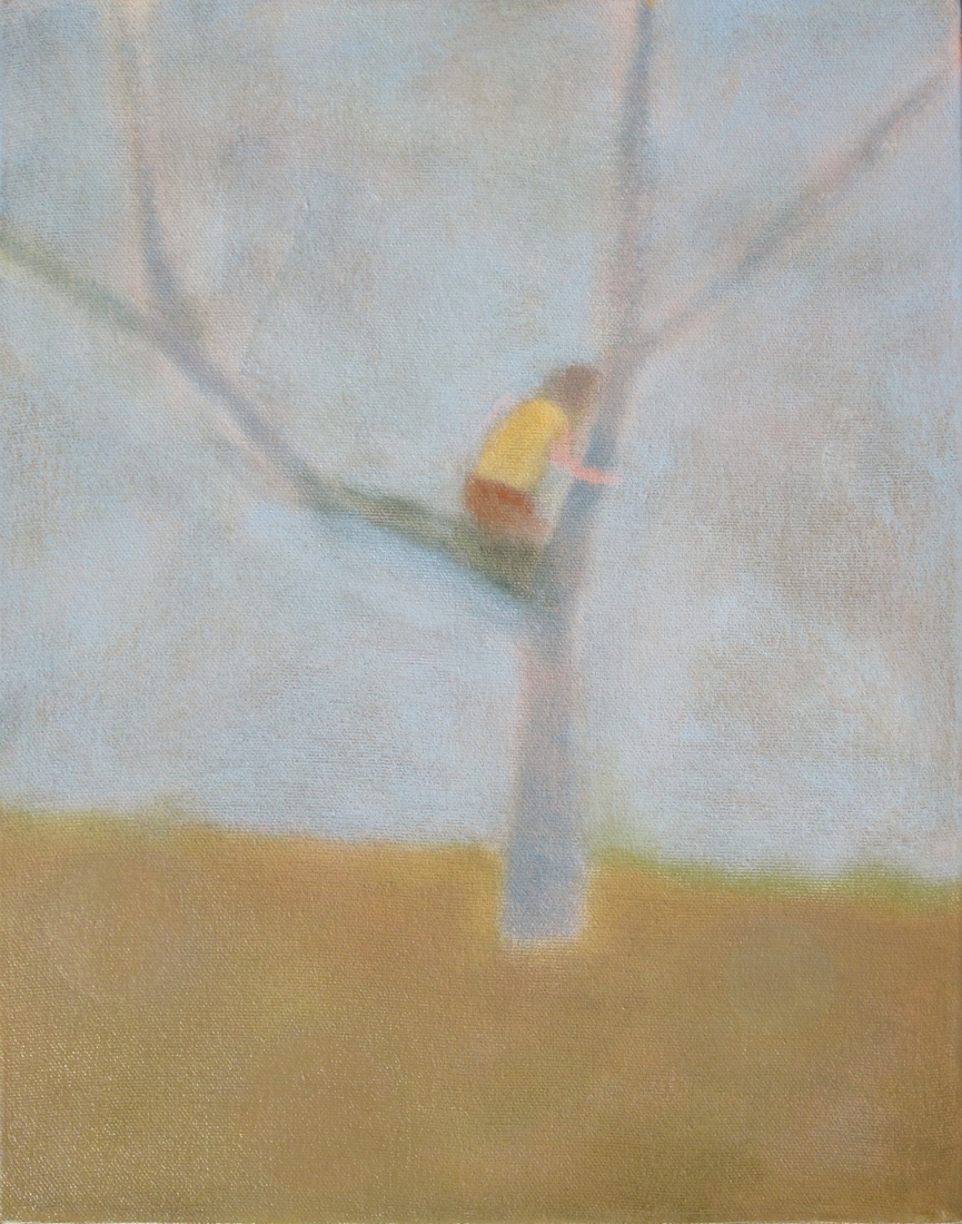 recent paintings No. 8 (Child in Tree)