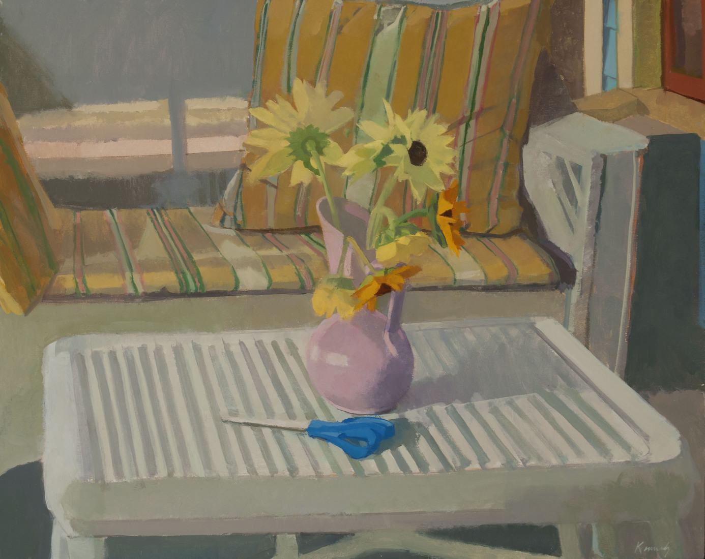 "Appearances 2012 Sunflowers 24"" x 30"" oil on linen"