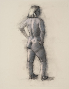Figure Drawings charcoal and pastel