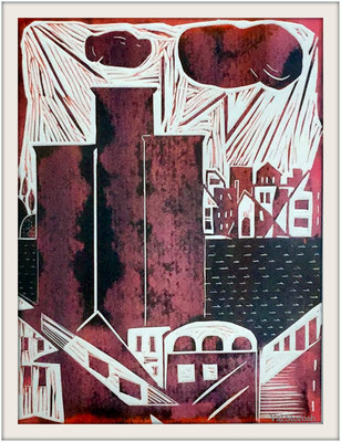 Valerie Storosh Recent Prints Color Viscosity Linoleum