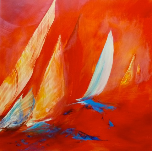 Sails oil on dibond aluminum