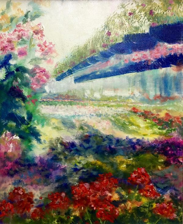 Urban & Floral Scenes oil on canvas
