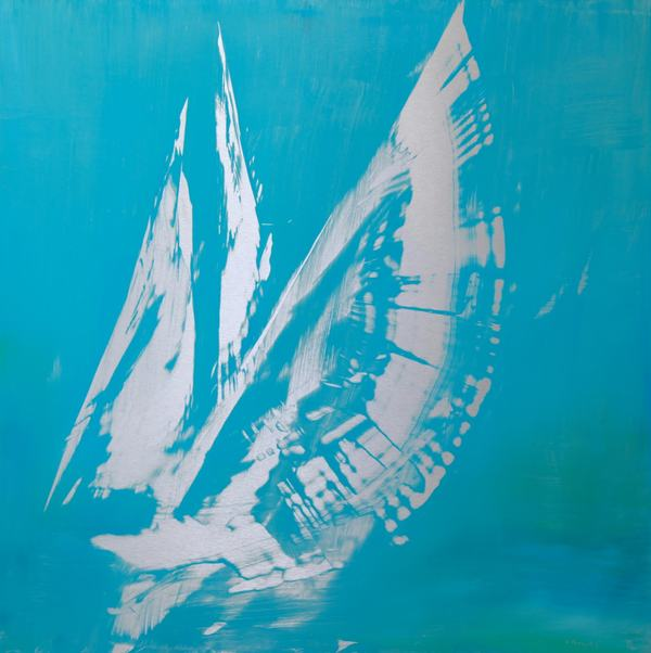 Sails oil on anodized aluminum