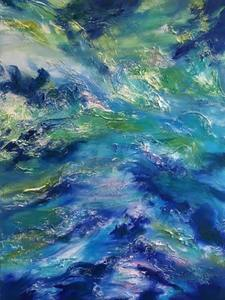Reflections on Water oil and mixed media on canvas
